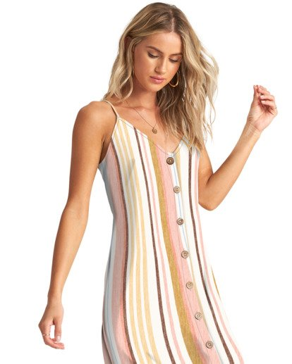 2 Sweet For Ya - Mini vestido con botones para Mujer Multicolor W3DR46BIP1 Billabong