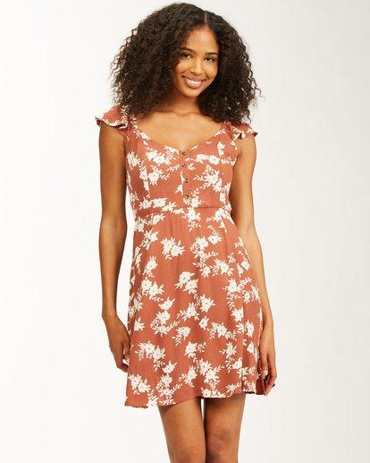 0 Forever Yours - Mini Vestido para Mujer Marron W3DR47BIP1 Billabong