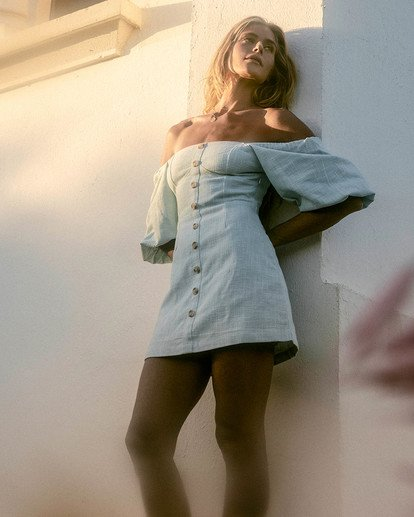 0 White Sand - Mini vestido para Mujer Azul W3DR50BIP1 Billabong