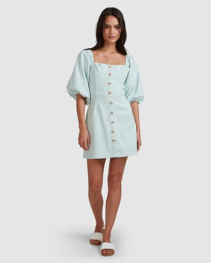 10 White Sand - Mini vestido para Mujer Azul W3DR50BIP1 Billabong