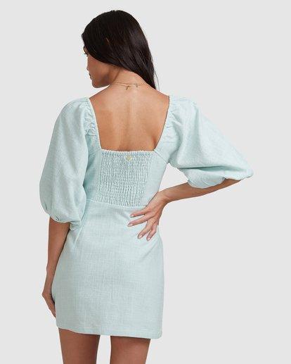 3 White Sand - Mini vestido para Mujer Azul W3DR50BIP1 Billabong