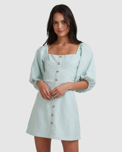 2 White Sand - Mini vestido para Mujer Azul W3DR50BIP1 Billabong