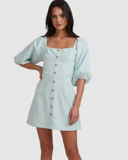 4 White Sand - Mini vestido para Mujer Azul W3DR50BIP1 Billabong