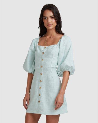 7 White Sand - Mini vestido para Mujer Azul W3DR50BIP1 Billabong