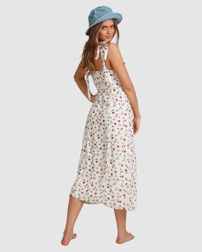 6 Tie - Robe midi pour Femme Blanc W3DR56BIP1 Billabong