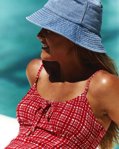 1 Gingham - Mini vestido para Mujer Rojo W3DR57BIP1 Billabong