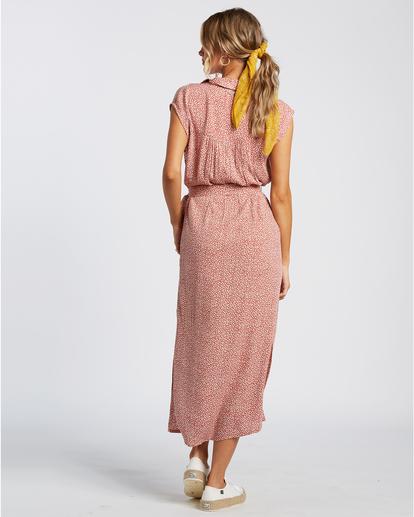 3 Little Flirt - Robe midi pour Femme Rouge W3DR63BIP1 Billabong