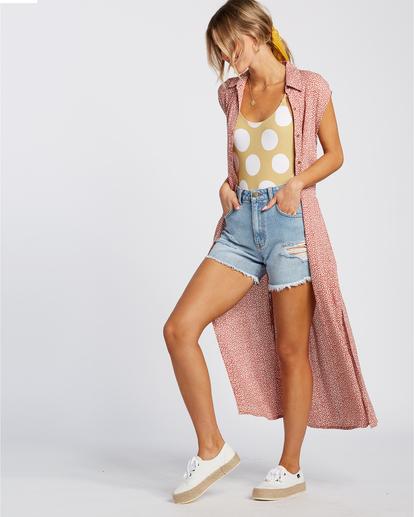 4 Little Flirt - Robe midi pour Femme Rouge W3DR63BIP1 Billabong