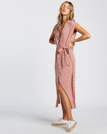 1 Little Flirt - Robe midi pour Femme Rouge W3DR63BIP1 Billabong
