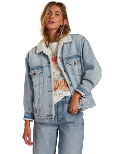 3 Such A Trip - Veste en jean pour Femme Bleu W3JK09BIP1 Billabong