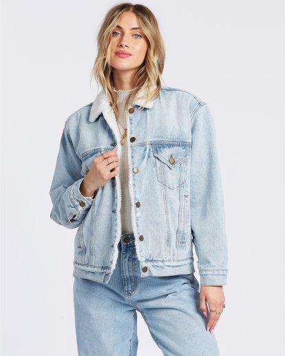 4 Such A Trip - Veste en jean pour Femme Bleu W3JK09BIP1 Billabong