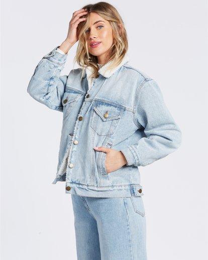 5 Such A Trip - Veste en jean pour Femme Bleu W3JK09BIP1 Billabong