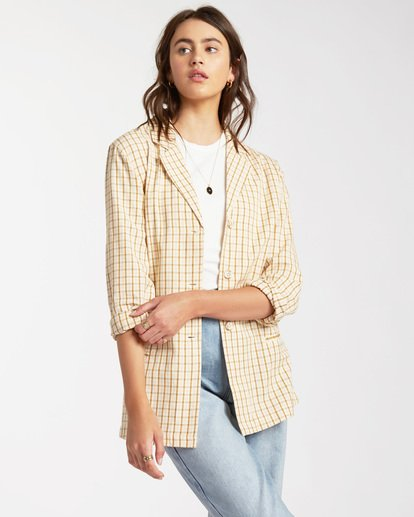 Safari Check Blazer Jacket - Blazer Jacket for Women  W3JK10BIP1