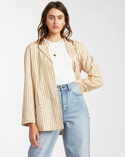 2 Safari Check Blazer Jacket - Blazer-Jacke für Frauen Mehrfarbig W3JK10BIP1 Billabong