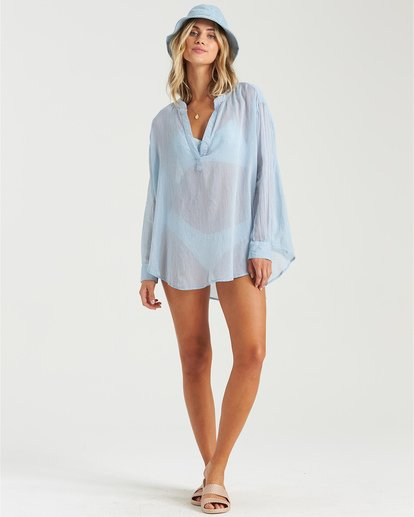 4 Dreaming Of You - Long Sleeve Swim Cover Up for Women Blue W3OS19BIP1 Billabong