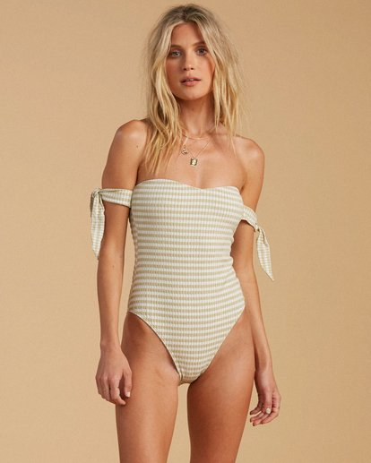1 Salty Blonde Meet Your Matcha - Recycled One-Piece Swimsuit for Women Green W3SW19BIP1 Billabong