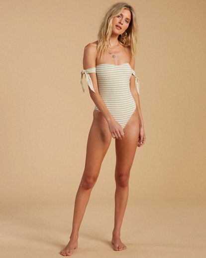4 Salty Blonde Meet Your Matcha - Recycled One-Piece Swimsuit for Women Green W3SW19BIP1 Billabong