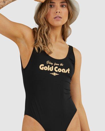 4 G'Day Gold Coast - Bañador Entero para Mujer Negro W3SW54BIP1 Billabong