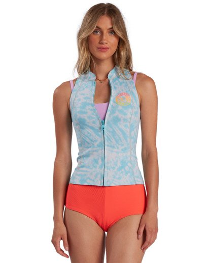 0 1mm Surf Capsule Salty Daze - Ärmelloses Neopren-Top für Frauen Blau W41G59BIP1 Billabong