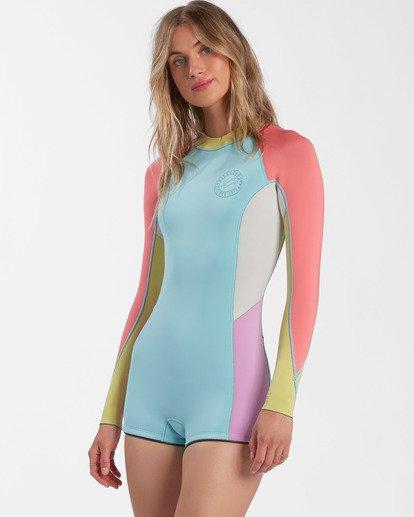 2 Surf Capsule Spring Fever - Traje de surf de primavera con manga larga para Mujer  W42G54BIP1 Billabong