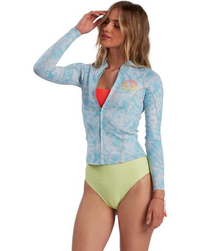 2 Surf Capsule Peeky - Wetsuit Jacket for Women Blue W42G56BIP1 Billabong