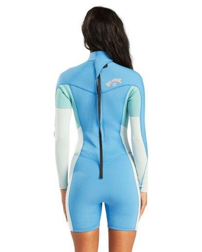 2 2/2mm Synergy - Traje de surf de primavera con manga larga y cremallera en la espalda para Mujer Azul W42G58BIP1 Billabong