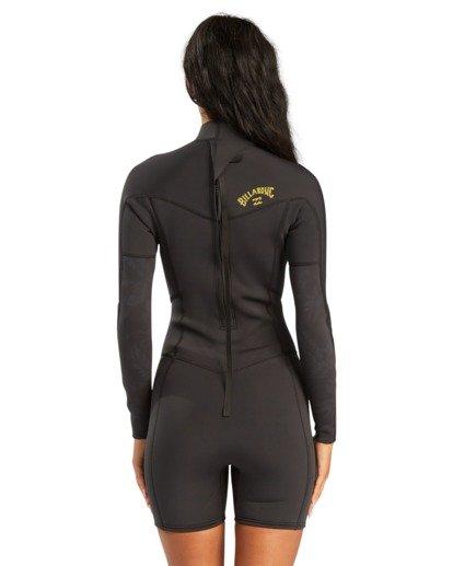 2 2/2mm Synergy - Traje de surf de primavera con manga larga y cremallera en la espalda para Mujer  W42G58BIP1 Billabong