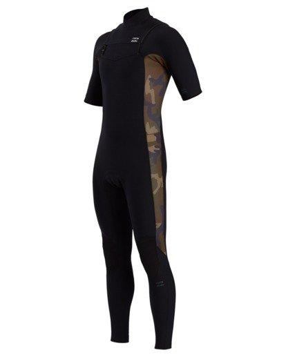 0 Revolution Pro - 2/2mm Chest Zip Short Sleeve Springsuit for Men Camo W42M54BIP1 Billabong