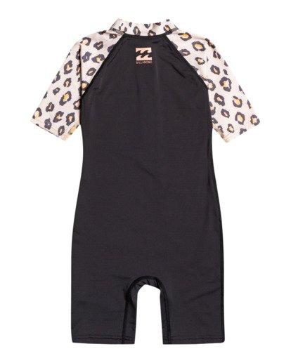1 Billie Logo Combi - Licra de Manga Corta con Protección Solar UPF 50 para Bebés Negro W4TY03BIP1 Billabong