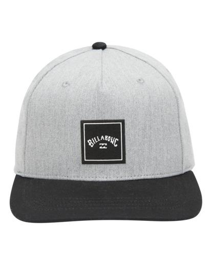 0 Stacked - Snapback Cap for Men Grey W5CM08BIP1 Billabong