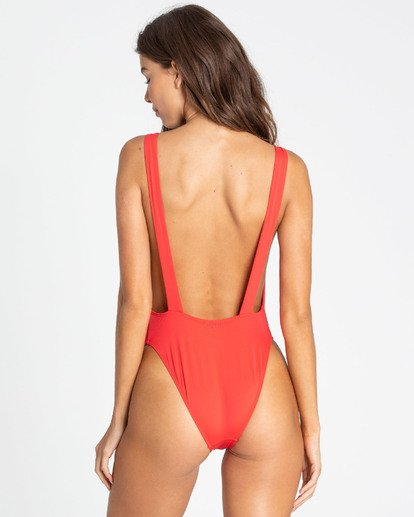 2 Sol Searcher One Piece Swim Red X101TBSO Billabong