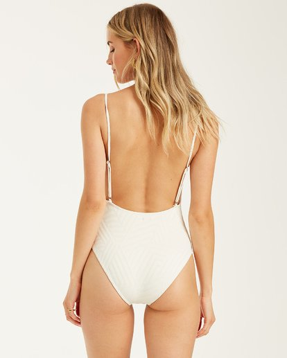 4 Peeky Days One Piece Swim White X1032BPE Billabong