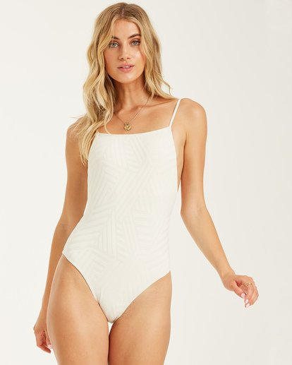 2 Peeky Days One Piece Swim White X1032BPE Billabong