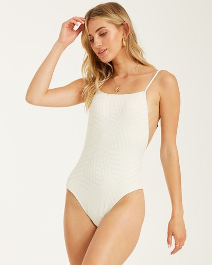 3 Peeky Days One Piece Swim White X1032BPE Billabong