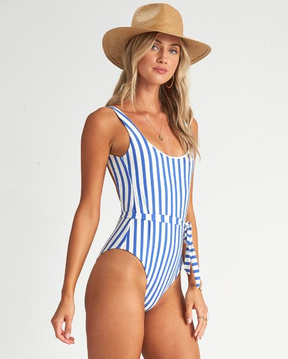 3 Blue By U One Piece Swim Grey X1051BBL Billabong
