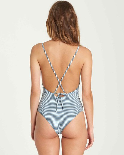 2 Sea Rinse One Piece Swim Blue X105QBSE Billabong