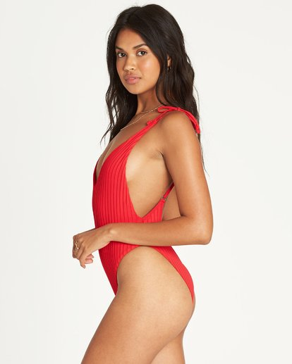 1 Sunny Rib One Piece Swim Red X106UBSU Billabong