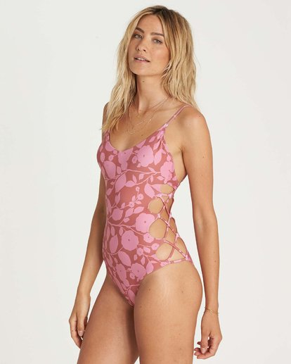 1 Rosy Waves One Piece Swim  X107NBRO Billabong