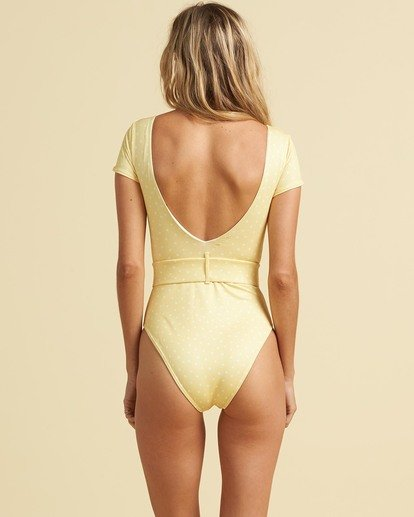 2 Salty Blonde Sundipped One Piece Swim Pink X1083BSU Billabong