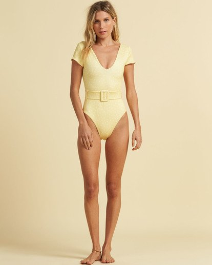 3 Salty Blonde Sundipped One Piece Swim Pink X1083BSU Billabong