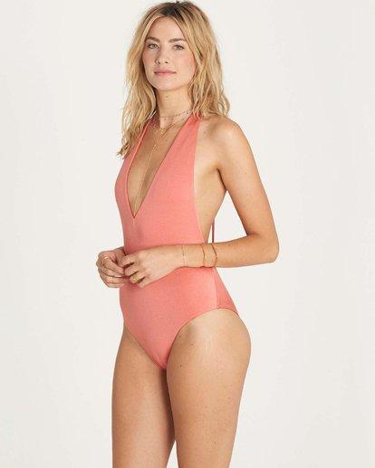 1 Sol Searcher Deep V One Piece Swim Pink X109LSOL Billabong