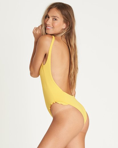 3 High On Sun One Piece Swim Yellow X109UBHI Billabong