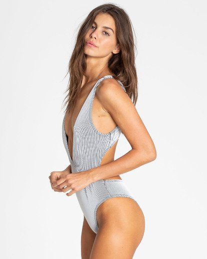 1 New Tide One Piece Swim Grey X110TBNE Billabong