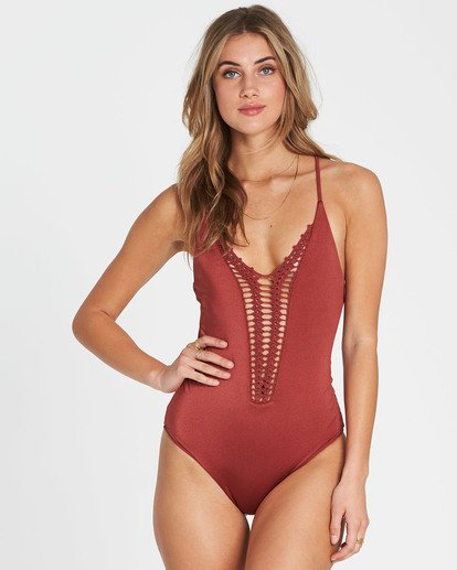 0 Hippie Hooray One Piece Swim Red X111EHIP Billabong