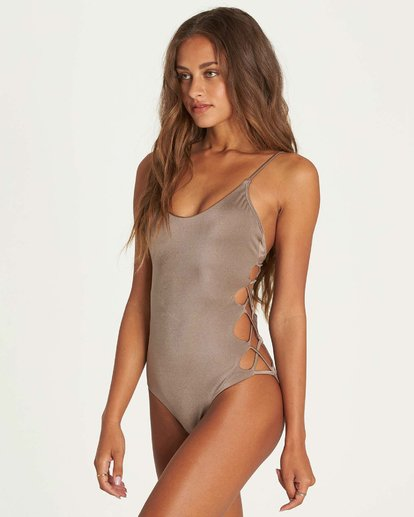 1 Sol Searcher One Piece Swim Beige X117NBSO Billabong