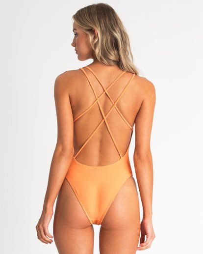 2 Tanlines One Piece Swim Orange X117TBTA Billabong