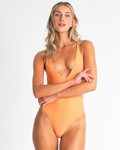 1 Tanlines One Piece Swim Orange X117TBTA Billabong