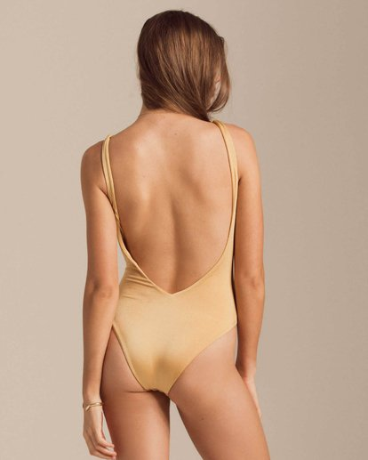2 Gold Struck One Piece Swim Yellow X123PBGO Billabong