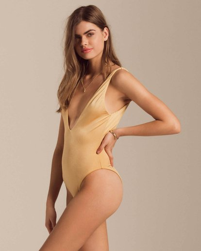 1 Gold Struck One Piece Swim Yellow X123PBGO Billabong