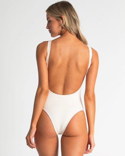 4 Follow The Sun One Piece Swim White X140TBFO Billabong